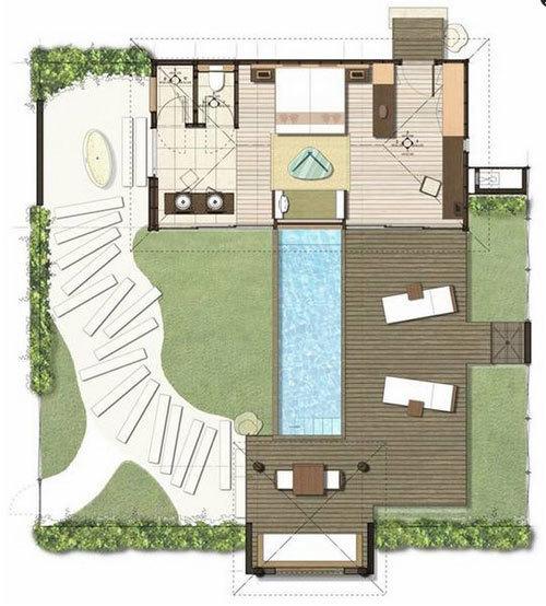 Plan Pool Villa