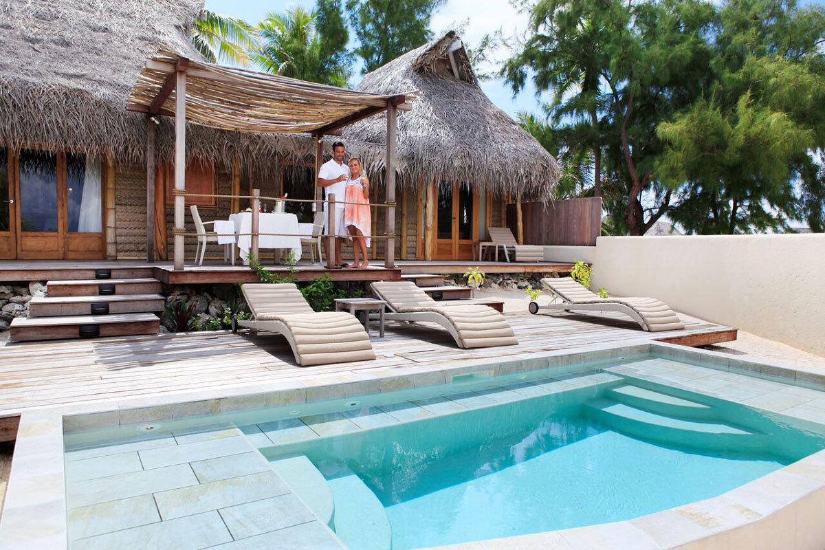Villa avec piscine vue terrasse